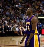 Toronto Rapters contra Los Ángeles Lakers Foto de archivo libre de regalías