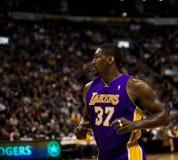 Toronto Rapters contre Los Angeles Lakers Images libres de droits