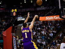 Toronto Rapters contre Los Angeles Lakers Images stock