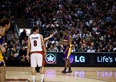 Toronto Rapters contro Los Angeles Lakers Immagini Stock Libere da Diritti
