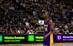 Toronto Rapters versus Los Angeles Lakers Royalty-vrije Stock Afbeeldingen