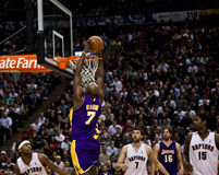 Toronto Rapters versus Los Angeles Lakers Stock Foto's