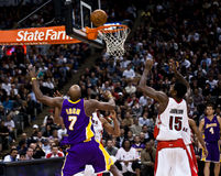 Toronto Rapters vs. Los Angeles Lakers Stock Photo