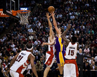Toronto Rapters vs. Los Angeles Lakers Royalty Free Stock Photography