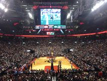 Toronto Raptors na arena de Scotiabank fotografia de stock royalty free