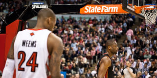 Toronto Raptors vs. Miami Heat Royalty Free Stock Photos