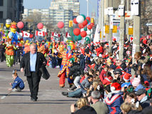 Toronto's 108th Santa Claus Parade royalty free stock image