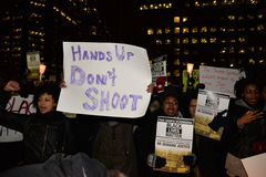 Toronto's Black Community takes action in solidarity with Ferguson protesters Stock Image
