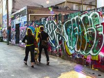 Toronto`s Graffiti Alley royalty free stock photos