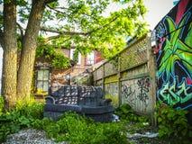 Toronto`s Graffiti Alley stock photo