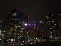Toronto& x27; s-Nachtansicht stockfoto
