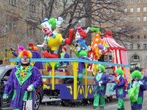Toronto Santa Claus Parade clowns 2016 Stock Photos