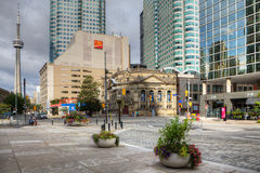 Toronto scene with CN tower in background Royalty Free Stock Photos