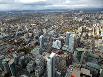 Toronto scene. Toronto northwest view from top of CN Tower in Toronto, Canada Royalty Free Stock Image
