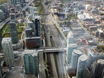 Toronto scene. Toronto westview from top of CN Tower in Toronto, Canada Royalty Free Stock Image