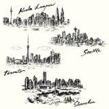Toronto, Seattle, Kuala Lumpur, Shenzhen Imagens de Stock