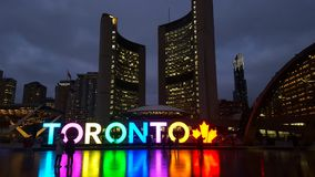 Toronto Sign at City Hall Stock Images