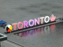 Toronto sign in Nathan Deal Plaza stock photos