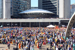 Toronto sikh- Khalsa ståtar Royaltyfri Bild