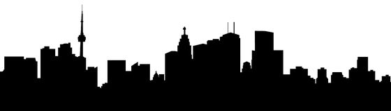 Toronto Silhouette. Skyline silhouette of the city of Toronto, Canada Royalty Free Stock Images