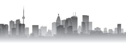 Toronto Silhouette. Skyline silhouette of the city of Toronto, Canada Stock Photos