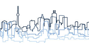 Toronto Silhouette. Skyline silhouette of the city of Toronto, Canada Stock Photography