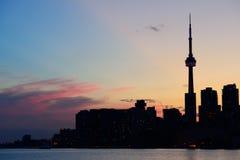 Toronto silhouette Stock Image