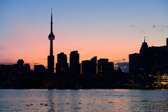 Toronto silhouette royalty free stock images