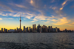 Toronto sillhouette sunset Royalty Free Stock Images