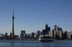 Toronto sky line. And a ship stock images