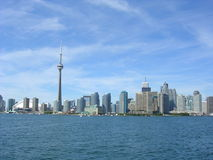 Toronto skyline. Toronto downtown skyline from Ontario lake Stock Photo