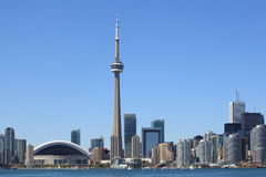 Toronto skyline. Photo of the Toronto skyline under a clear sky stock photos