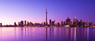 Toronto Skyline. Scene of Toronto skyline from Central Island Royalty Free Stock Photos