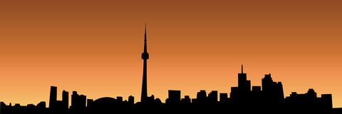 Toronto Skyline royalty free illustration