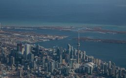 Toronto Skyline from the Air Stock Photos