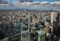 Toronto Skyline from Atop the CN Tower Stock Image