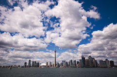 Toronto skyline on beautiful day. Toronto skyline on beautiful summer day, great clouds formation Royalty Free Stock Photo