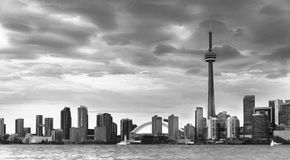 Toronto Skyline in Black and White Royalty Free Stock Images