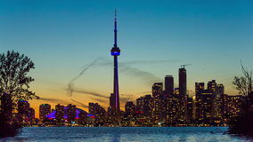 Toronto  skyline, Canada stock footage