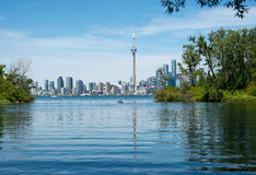 Toronto skyline from center island. On a beautiful summer day Stock Photography