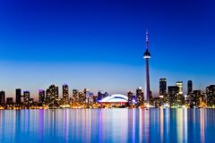 Toronto Skyline from Centre Island Royalty Free Stock Photography