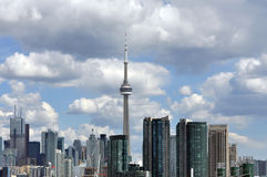 Toronto skyline with CN Tower Royalty Free Stock Images