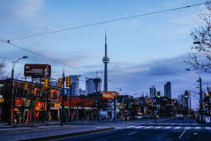 Toronto skyline CN Tower royalty free stock images