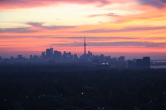 Toronto Skyline at Dawn Stock Photography