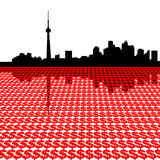 Toronto skyline with dollars Royalty Free Stock Photos
