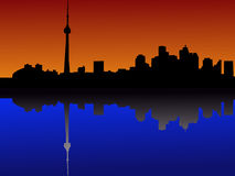 Toronto skyline at dusk Stock Photography