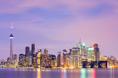 Toronto Skyline at dusk Stock Image