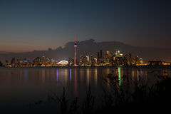 Toronto Skyline Evening Royalty Free Stock Photos