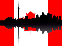 Toronto skyline with Flag Stock Image