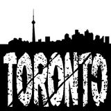 Toronto skyline grunge text Stock Images